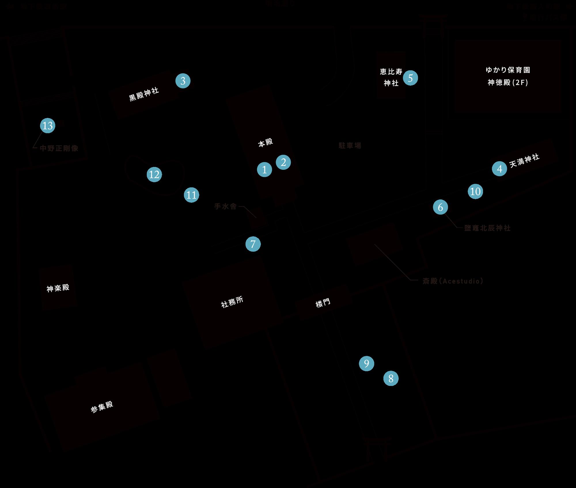 神社内地図